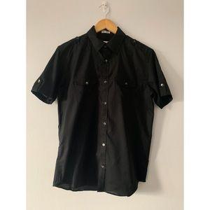 Calvin Klein Short Sleeve Button Down Shirt